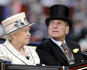 La Reina Isabel y el Principe Felipe duque de Edimburgo