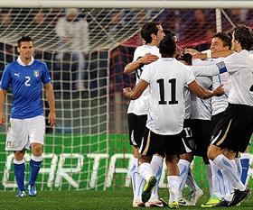 """Gol celeste de """"Papelito"""" Fernandez frente a Italia"""