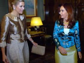La princesa Máxima en su visita a Cristina Fernández