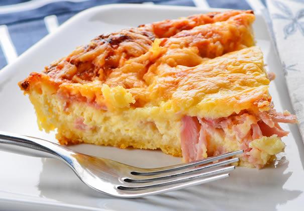 Pastel de papas con jamón y queso