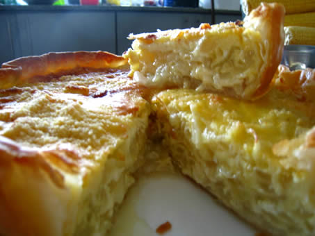 Tarta de cebolla