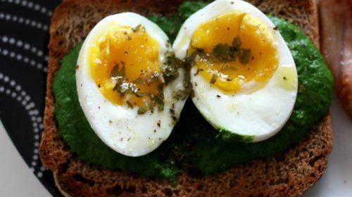 Puré de espinacas con huevo