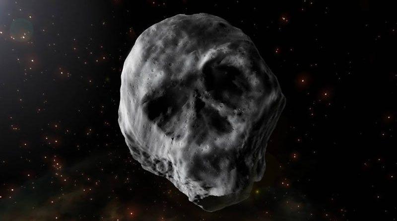 Asteroide en la noche Halloween