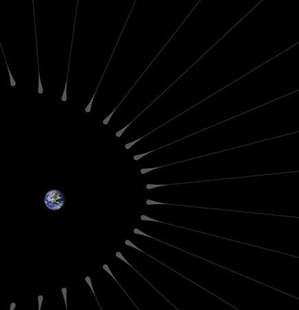 """Resultado de imagen de El pelo que emerge del planeta Tierra tiene raíces (como materia oscura"""""""
