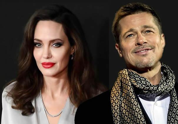Angelina y Brad, en soledad