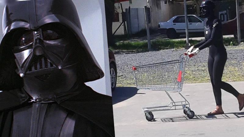Protección  Darth Vader para salir de compras
