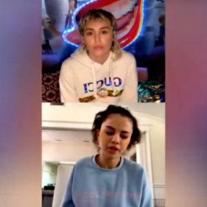 Selena Gómez se confiesa con Miley Cyrus