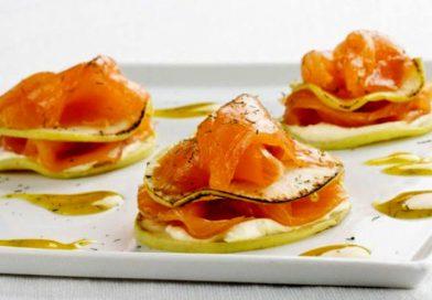 milhojas de salmón