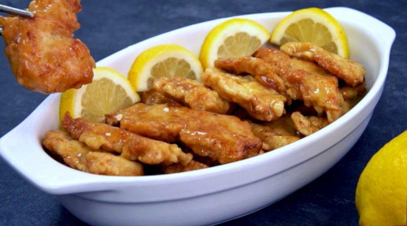 Pollo al limón con preparación china