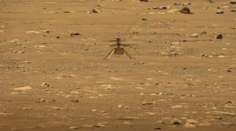Histórico vuelo del helicóptero en Marte